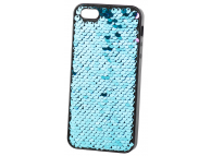 Husa TPU OEM Magic Sequins pentru Apple iPhone 5 / Apple iPhone 5s, Albastra, Bulk