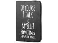 Husa GreenGo Talk To Myself pentru Tableta 7 inci - 8 inci, Neagra, Bulk