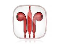 Handsfree Casti EarBuds OEM, Cu microfon, 3.5 mm, Rosu, Blister