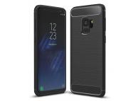 Husa TPU OEM Carbon pentru Samsung Galaxy S9 G960, Neagra, Bulk