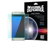 Folie Protectie Ecran Ringke pentru Samsung Galaxy S7 edge G935, Plastic, Full Face, Set 2 buc, Blister