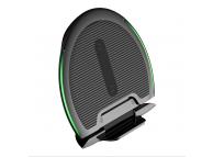 Incarcator Retea Wireless Baseus Foldable WXZD-01 + Cablu Date MicroUSB 1.2m, 1 x USB, Negru, Blister