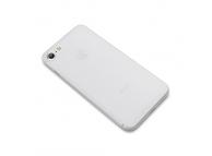 Husa Plastic Cafele Chiffon Ultra slim Matte pentru Apple iPhone 7 / Apple iPhone 8, Alba, Blister