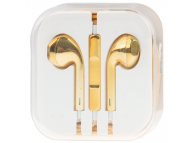 Handsfree Casti EarBuds OEM Plating, Cu microfon, 3.5 mm, Galben, Blister