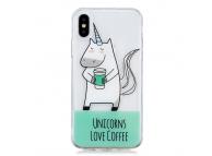 Husa TPU OEM Unicorn pentru Apple iPhone X, Multicolor, Bulk