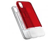 Husa Plastic Spigen Classic C1 pentru Apple iPhone X, Rosie - Transparenta, Blister 057CS23195