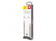 Cablu Audio 3.5 mm la 3.5 mm Baseus Tata - Tata Yiven M30, 1.5 m, Argintiu, Blister