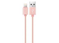 Cablu Date si Incarcare USB la Lightning DEVIA MFI, 1.2 m, Auriu - Roz, Blister