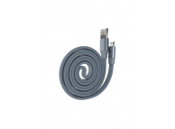 Cablu Date si Incarcare USB la MicroUSB DEVIA Ring Y1, 0.8 m, Gri, Blister