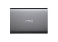 Baterie Externa Powerbank Vinsic VSPB202 cu afisaj, 20000 mA, 2 x USB, Gri, Blister