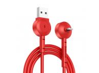 Cablu Date si Incarcare USB la Lightning Baseus Maruko, 1 m, Rosu, Blister