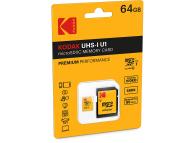 Card Memorie MicroSDHC Kodak, 64Gb, Clasa 10 - UHS-1 U1, Blister KO-EKMSDM64