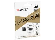 Card Memorie MicroSDHC Emtec EliteGold, 32Gb, Clasa 10 - UHS-1 U1, Blister EM-ECMSDM3