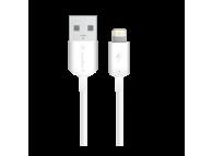 Cablu Date si Incarcare USB la Lightning Soultech Comfort DK020B, 1 m, Alb, Blister