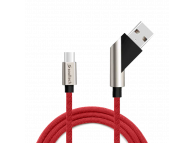 Cablu Date si Incarcare USB la USB Type-C Soultech Platinum DK028K, 1 m, Rosu, Blister