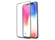 Folie Protectie Ecran Soultech pentru Apple iPhone X, Sticla securizata, Full Face, Platinum EK807S, Neagra, Blister