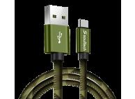 Cablu Date si Incarcare USB la USB Type-C Soultech Army Metal DK031, 1 m, Multicolor, Blister