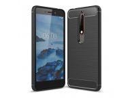 Husa TPU OEM Carbon pentru Nokia 6.1, Neagra, Bulk