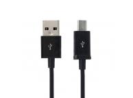 Cablu Date USB la MicroUSB OEM, 0.8 m, Negru, Bulk