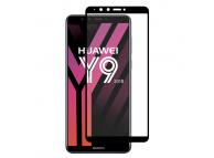 Folie Protectie Ecran Enkay pentru Huawei Y9 (2018), Sticla securizata, Full Face, Full Glue, Neagra, Blister