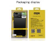 Husa Plastic Mofi Glass Case pentru Apple iPhone X, Neagra, Blister