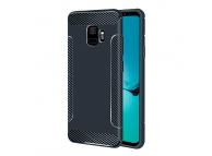 Husa TPU OEM Carbon fiber pentru Samsung Galaxy S9 G960, Bleumarin, Bulk