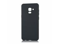 Husa TPU OEM Pure Silicone pentru Samsung Galaxy A8+ (2018) A730, Neagra, Blister