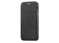 Husa Textil OEM Vennus Cotton pentru Samsung Galaxy A6+ (2018) A605, Neagra, Blister