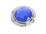 Agatatoare metalica suport pentru geanta, Albastra