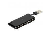 Hub USB cu 4 porturi USB Vivanco 36660, Negru, Blister