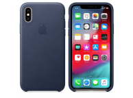 Husa Piele Apple iPhone XS / Apple iPhone X, Bleumarin, Blister AP-MRWN2ZM/A