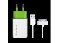 Incarcator Retea cu cablu 30-pini Apple Soultech Comfort SC013B 1.1A, 1 X USB, Alb, Blister