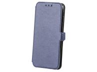 Husa Piele OEM Smart Pocket pentru Samsung Galaxy A8+ (2018) A730, Bleumarin, Bulk