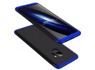 Husa Plastic OEM Full cover pentru Samsung Galaxy S9 G960, Neagra - Albastra, Bulk