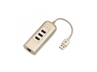 Hub multifunctional USB 3.0 Ethernet Remax RU-U4, Auriu, Blister