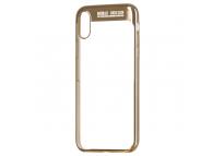 Husa TPU Remax Modi pentru Apple iPhone X / Apple iPhone XS, Aurie - Transparenta, Blister