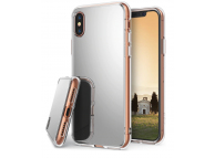 Husa TPU Ringke Mirror pentru Apple iPhone X / Apple iPhone XS, Argintie, Blister