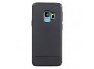 Husa TPU Carbon Fiber pentru Samsung Galaxy S9 G960, Neagra, Bulk