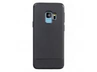 Husa TPU Carbon Fiber pentru Samsung Galaxy S9+ G965, Neagra, Bulk