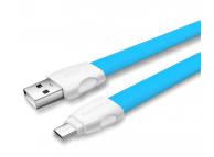 Cablu Date si Incarcare USB la MicroUSB Remax Full Speed 2, 1 m, Albastru, Blister