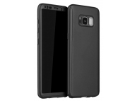 Husa Plastic OEM Full Cover pentru Samsung Galaxy S8+ G955, Neagra, Bulk