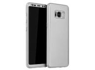 Husa Plastic OEM Full Cover pentru Samsung Galaxy S8 G950, Argintie, Bulk