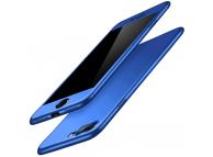 Husa Plastic OEM Full Cover pentru Apple iPhone 7 Plus, Albastra, Bulk