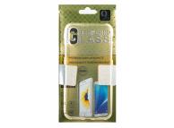 Pachet promotional OEM Husa TPU transparenta + Folie Protectie Ecran pentru Apple iPhone X, Apple iPhone XS, Sticla Securizata, Blister