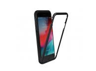Husa Aluminiu OEM Magnetic Frame Hybrid cu spate din sticla pentru Apple iPhone 6 Plus / Apple iPhone 6s Plus, Neagra, Bulk