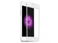 Folie Protectie Ecran Forever pentru Apple iPhone 6 Plus / Apple iPhone 6s Plus, Sticla securizata, Full Face, 5D, Alba, Blister