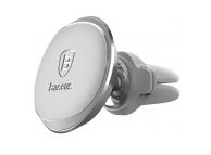 Suport Auto Universal Baseus Magnetic, Cu suport pentru cablu de incarcare, Argintiu, Blister