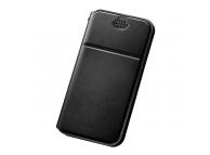 Husa Piele DUX DUCIS Every pentru Telefon 5.2 inci - 5.5 inci, Neagra, Blister