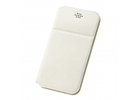 Husa Piele DUX DUCIS Every pentru Telefon 5.2 inci - 5.5 inci, dimensiuni interioare 153 x 80 mm, Alba, Blister