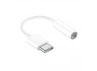 Adaptor Audio USB Type-C la 3.5 mm OEM, Alb, Bulk